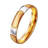 Золотое обручальное кольцо Верность чувств