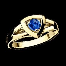 Сапфировое кольцо в лимонном золоте Dream & Love