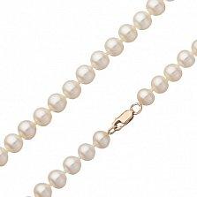 Жемчужное ожерелье Эдит с золотым замком, диам. 7-7,5мм