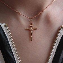 Крестик из красного золота Благодать