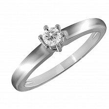 Кольцо из белого золота Верность с бриллиантом