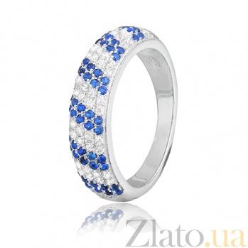 Кольцо из серебра с фианитами Ирмгард 000028165
