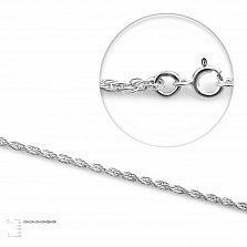 Серебряная цепочка Эмма с родием, 1,5 мм