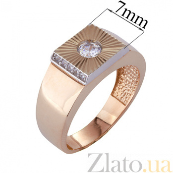 Золотой перстень-печатка с фианитами Остин ONX--к02232