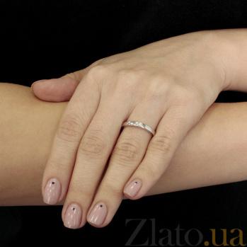 Обручальное кольцо из белого золота с бриллиантом Нежность 000001612