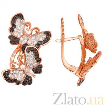 Серьги из красного золота Весенние бабочки VLT--ТТ227-3