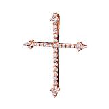 Золотой крестик Лорентайн с бриллиантами