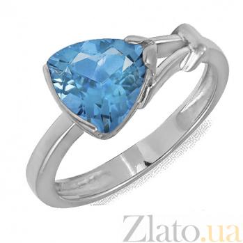 Кольцо в белом золоте Деметра с голубым топазом 000023707