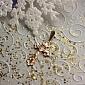 Крестик из красного золота Легионер EDM--КР011