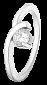 Серебряное кольцо с фианитом Аполония 000025722