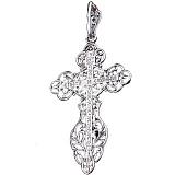 Серебряный крест Узорный с чернением