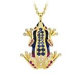 Золотое колье с бриллиантами, сапфирами и эмалью Лягушки: Чудо бытия