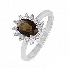 Серебряное кольцо с фианитами Дарла