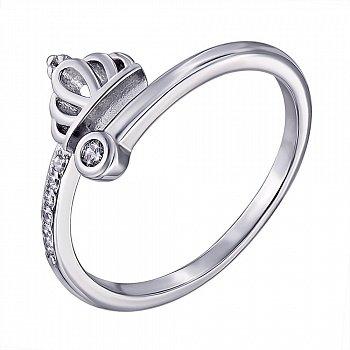 Серебряное кольцо с цирконием 000139905