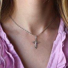 Серебряный крестик Праведность