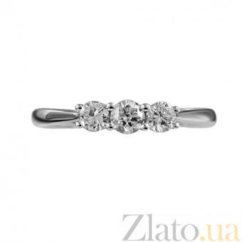 Золотое кольцо в белом цвете с бриллиантами Шарм 000026843