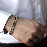 Серебряный браслет Мэрион с чернением, 9мм