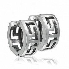 Серебряные серьги Ума