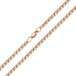 Браслет из красного золота в плетении арабский бисмарк, 3 мм 000002348