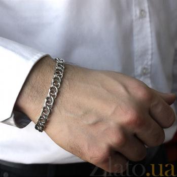 Серебряный браслет Мэрион с чернением, 9мм 000061989