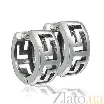 Серебряные серьги Ума 10030157