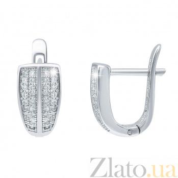 Серебряные серьги дорожки с цирконием Римма AQA--XWR-0017-E