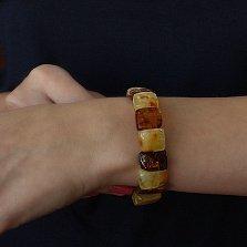 Браслет Шамина из натурального янтаря коньячного и лимонного цвета
