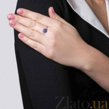 Серебряное кольцо с фиолетовым  цирконом Таис AQA--R0632-1RA