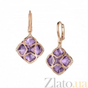 Серьги из розового золота с аметистами и бриллиантами Imperiale E-Ch(d)-IMP-R-ametyst-dia
