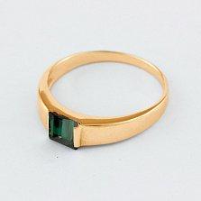 Золотое кольцо Аделина с синтезированным аметистом