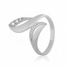 Серебряное кольцо с фианитами Оливия