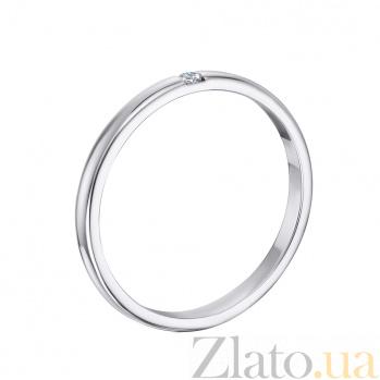 Золотое обручальное кольцо Беатриса в белом цвете с фианитом 10102/02/1/46