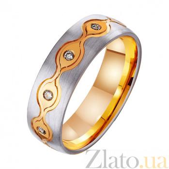 Золотое обручальное кольцо с фианитами Наслаждение TRF--412429