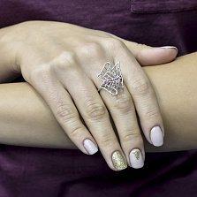 Серебряное кольцо Кристен с фианитами
