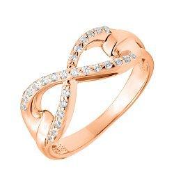 Кольцо из красного золота с фианитами 000123399