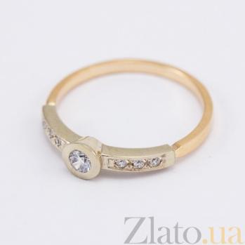 Кольцо из комбинированного золота с бриллиантами Алесто VLN--122-502