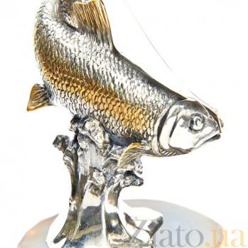 Серебряная статуэтка с позолотой Большой улов 1523