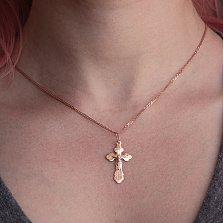 Золотой крест Сияние Веры в комбинированном цвете