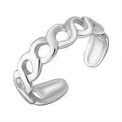 Серебряное разомкнутое кольцо 000126549