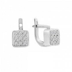 Серьги в белом золоте Джустина с бриллиантами