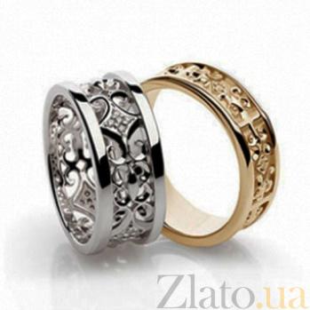Золотое обручальное кольцо с фианитами Царская свадьба SG--60846010