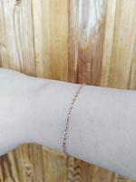 Золотий браслет у комбінованому кольорі з родованою діамантовою гранню, 2мм 000061644