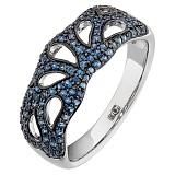 Золотое кольцо Жаклин с сапфирами