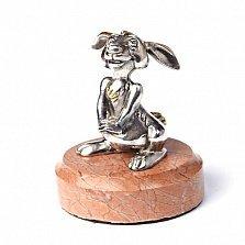 Серебряная статуэтка с позолотой Зайчонок