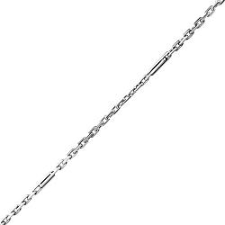 Серебряная цепочка в якорном плетении с удлиненными звеньями 000129691