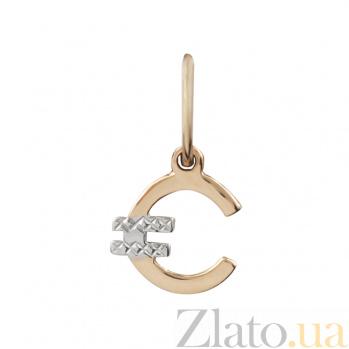 Золотой подвес Евро В171:ЭЗ-П0219