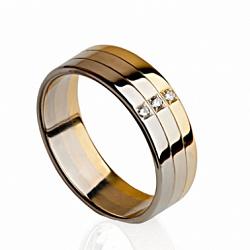 Кольцо обручальное с бриллиантами Любви триумф
