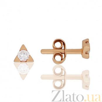 Золотые серьги-пуссеты Триоль EDM--С0375-G