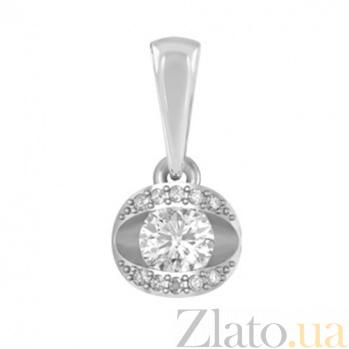 Золотой подвес с бриллиантами Леда KBL--П301/бел/брил