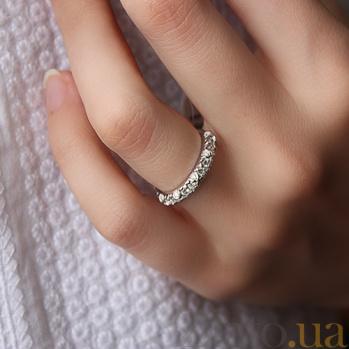 Золотое кольцо в белом цвете с бриллиантами Алиссия 000026489